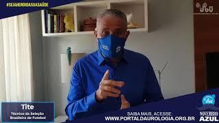 O técnico Tite  apoia a Campanha Novembro Azul