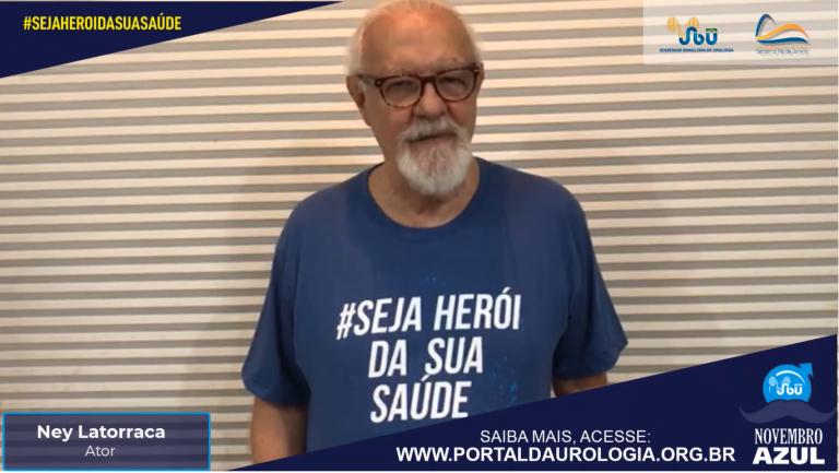 O ator Ney Latorraca apoia a Campanha Novembro Azul