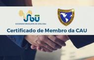 Associado SBU pode emitir seu certificado de membro da CAU pelo site