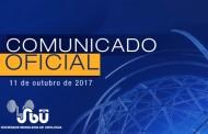 Comunicado oficial - 12 de outubro